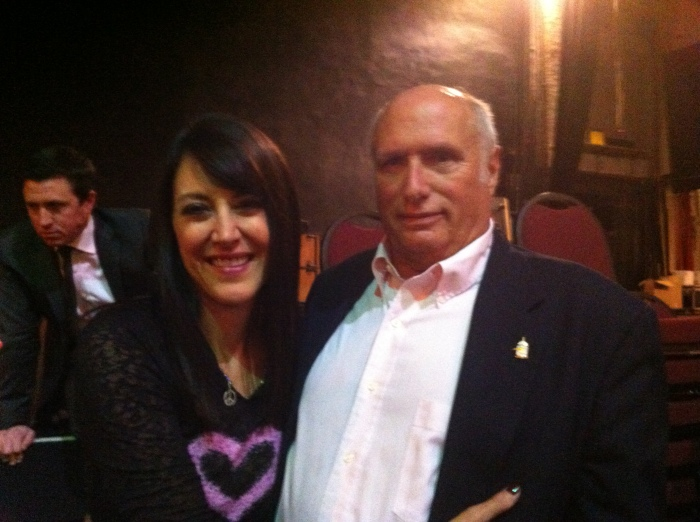 Ms. Stephanie Miller and I, Chicago Theater, 13 April 2013.