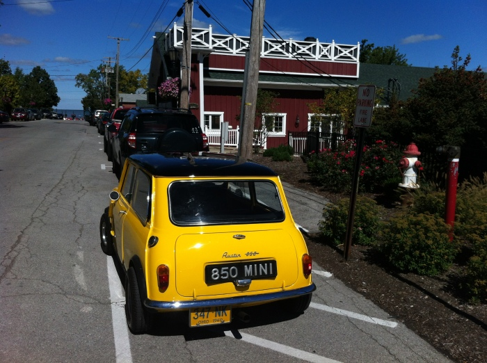 Mini outside  chez francois in vermilion oh