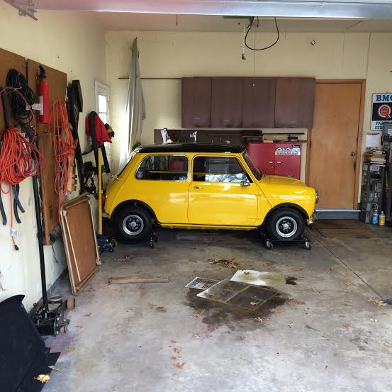 Mini tucked away for the winter