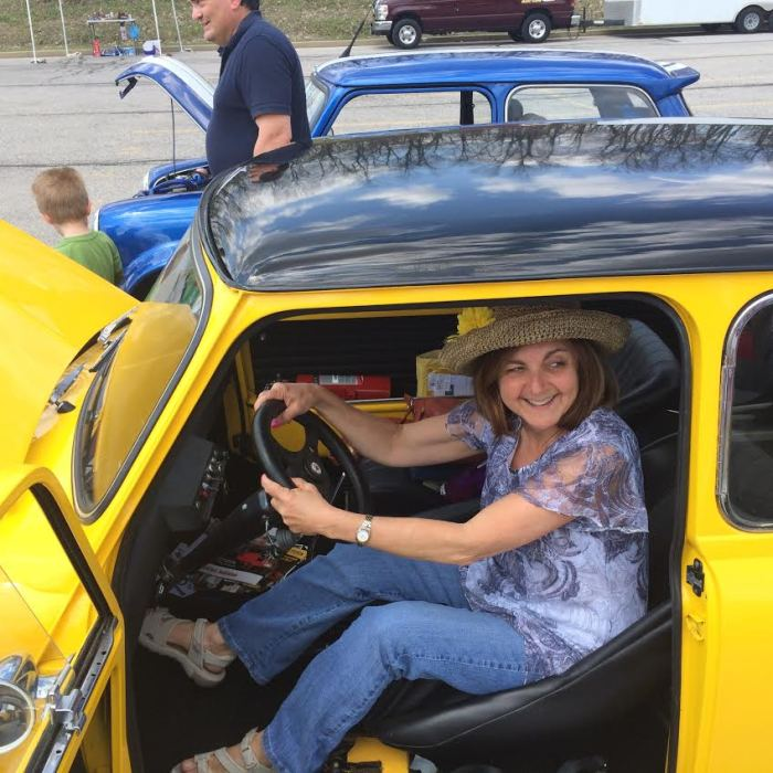 Recalling her first car - A mini in S. Africa