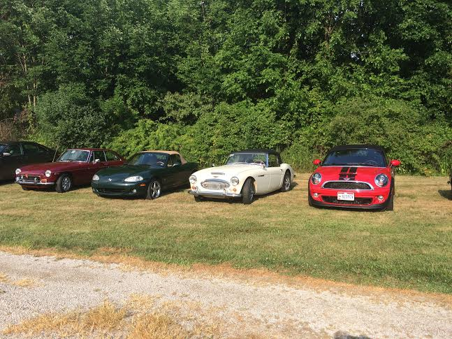 British cars at party