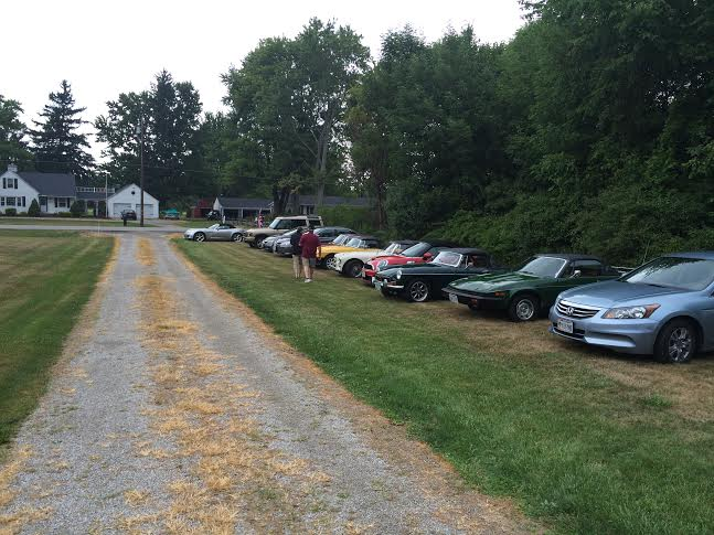 cars at party
