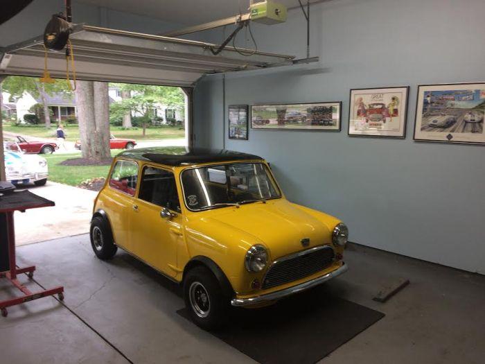 Mini in our garage