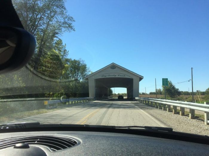 A covered bridge on our tour